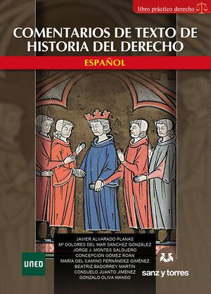 COMENTARIOS DE TEXTO DE HISTORIA DEL DERECHO ESPAÑOL